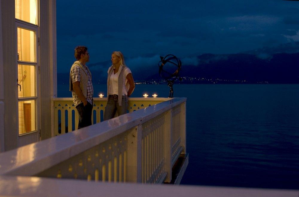 På balkongen ein sommarkveld...