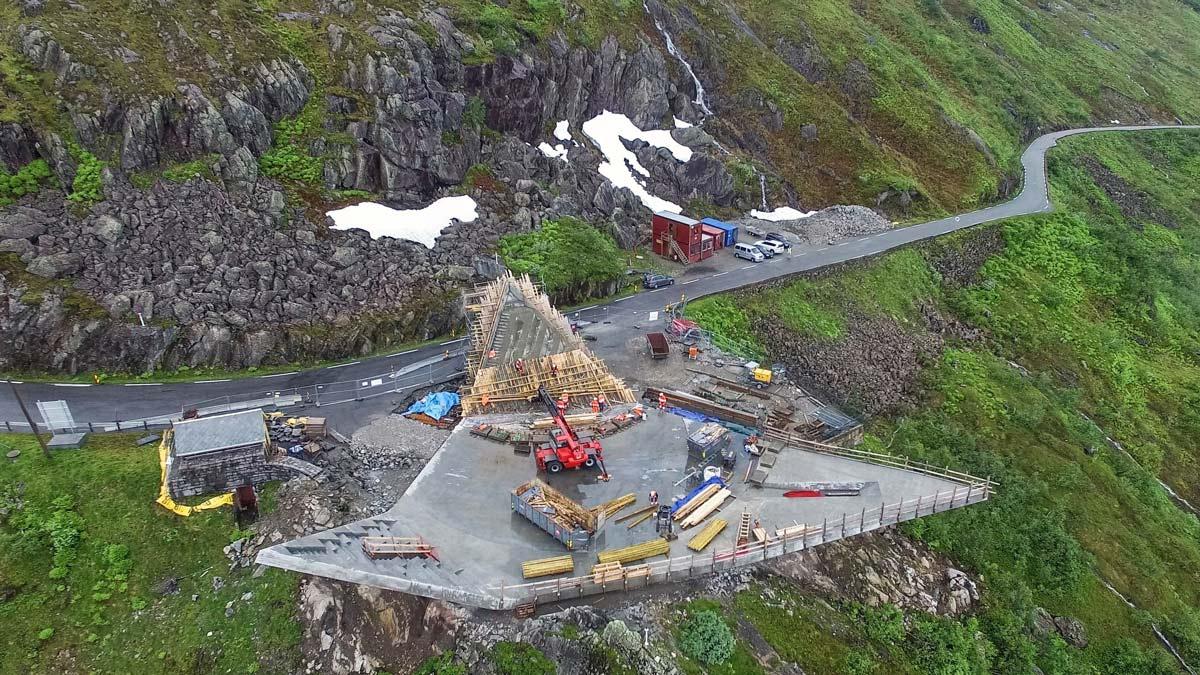 Oversiktsbilde av den nye utsiktsplattformen. Foto: Eivind Nygaard, Code AS.