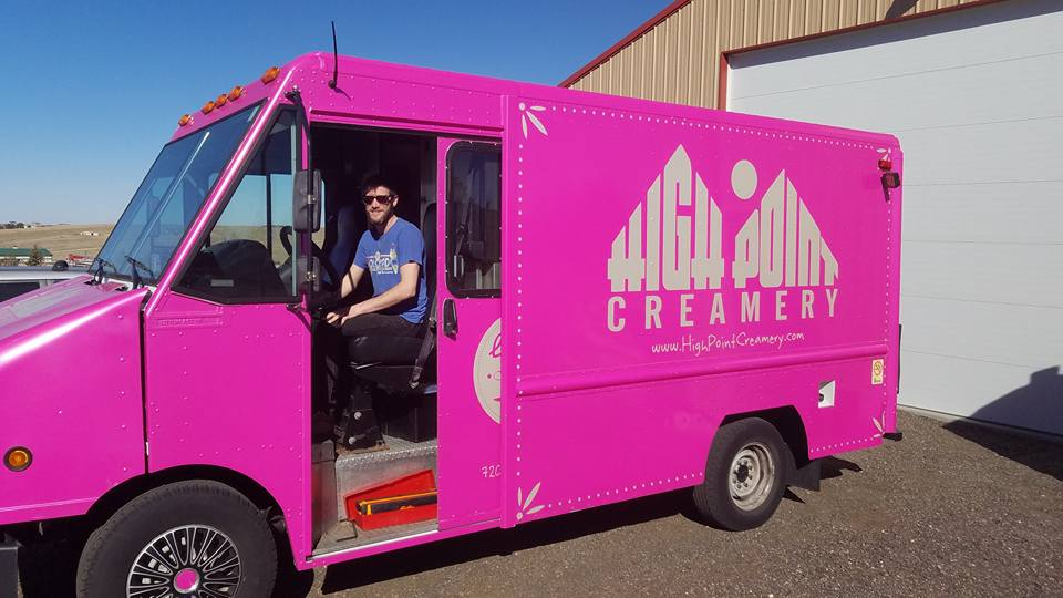 Hihg Point creamery ice cream truck