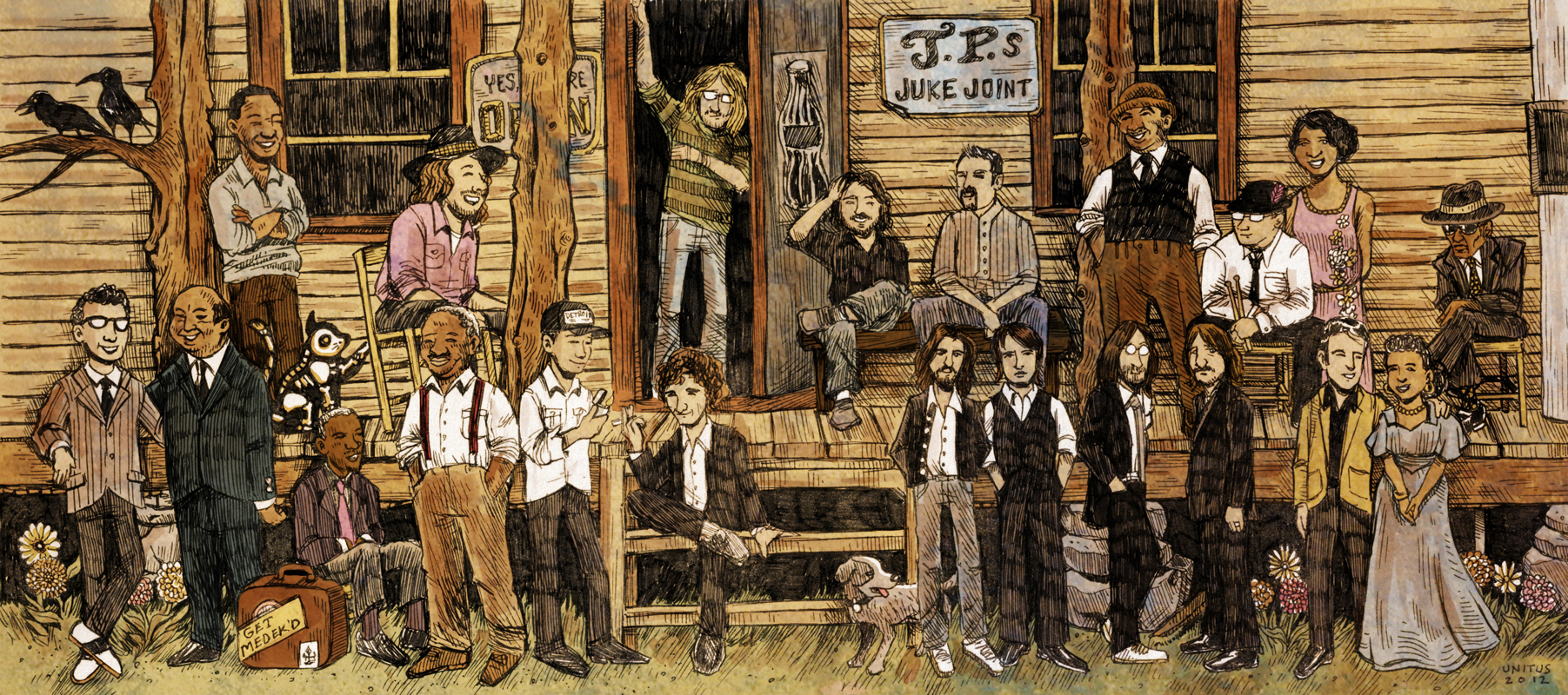 JIMMI & THE BAND OF SOULS ILLUSTRATION