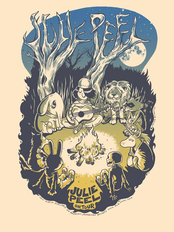 JULIE PEEL TOUR POSTER
