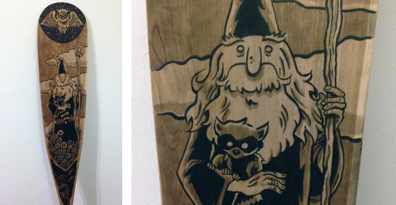 "My Paddle artwork: ""The Wizard"""