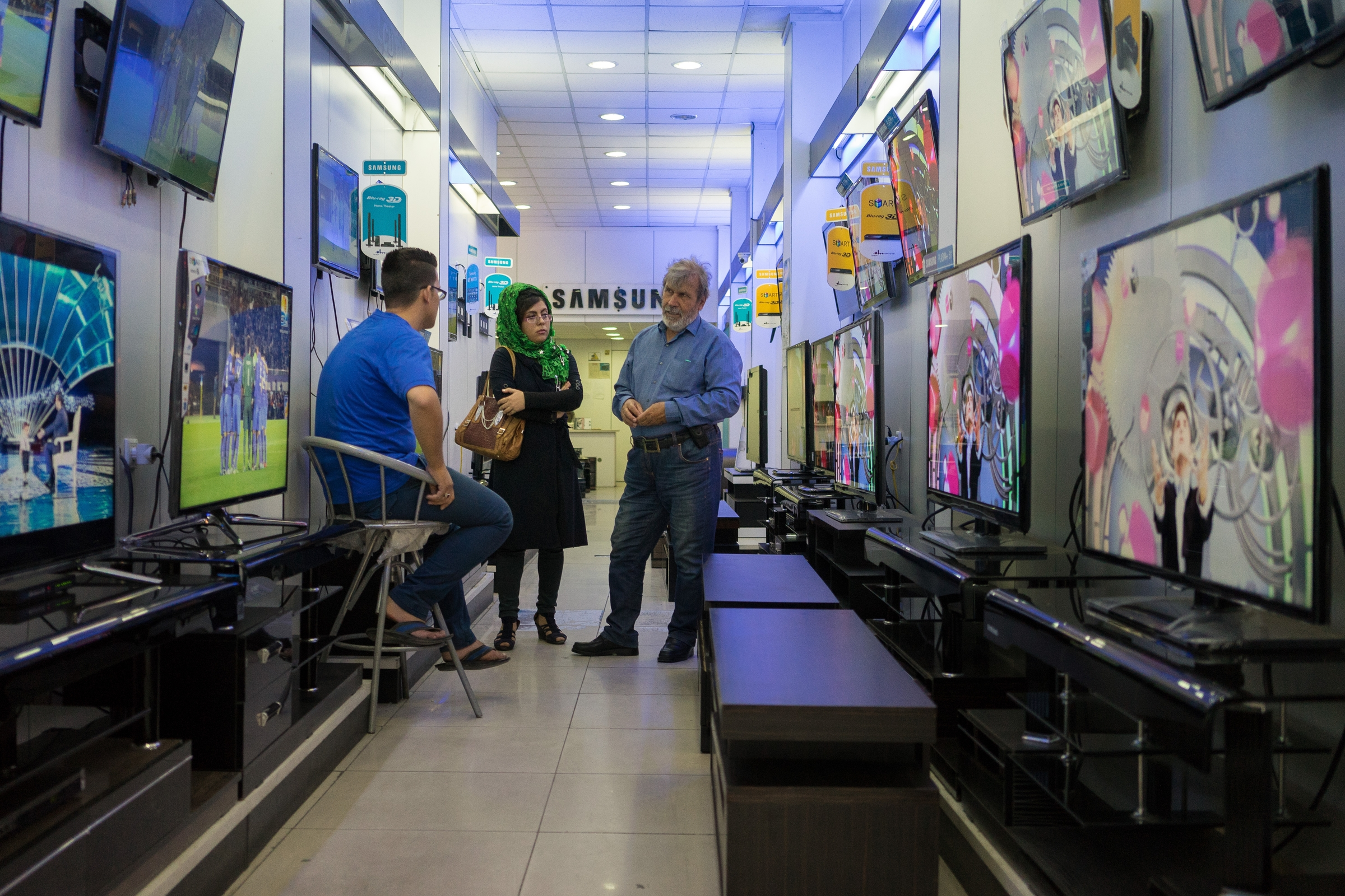 Samsung has emerged as the clear leader in Iran's consumer electronics market. It has overtaken Nokia in the mobile phone market and Panasonic in the television market following an aggressive push to bring a branded store experience to Iran.