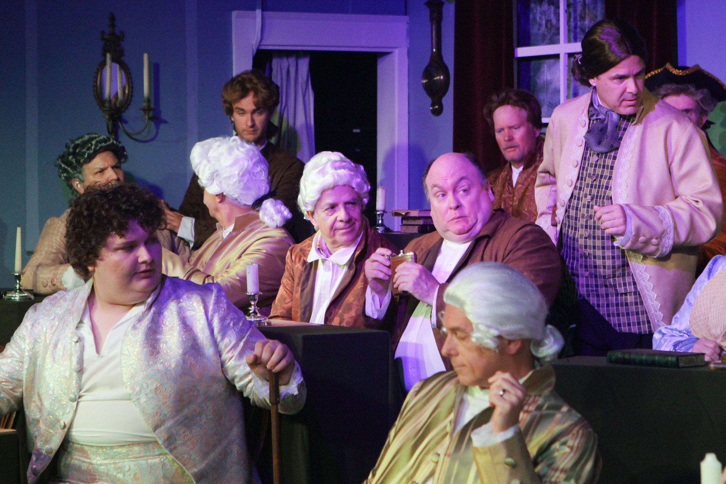The cast of  1776  at Lake Country Playhouse.