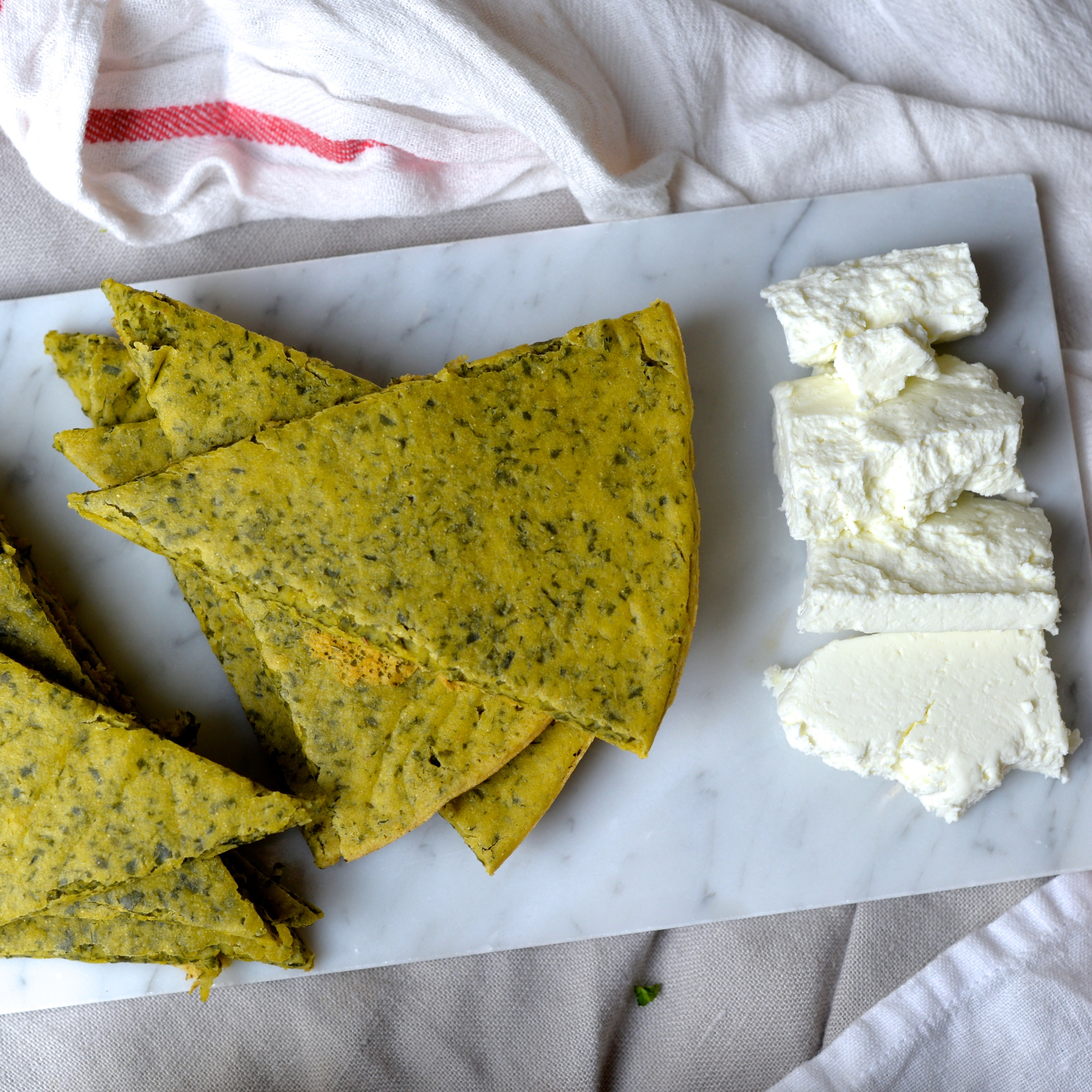 Spanish Spiced Kale Socca