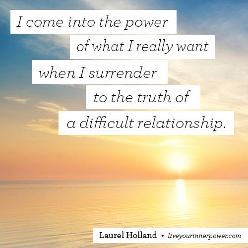 surrender-difficult relationship