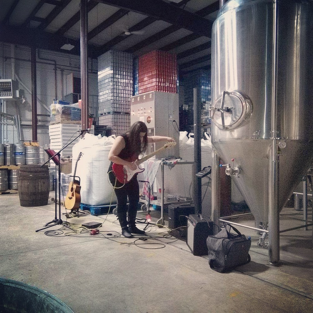 Setting up at SGB Sleeping Giant Brewery