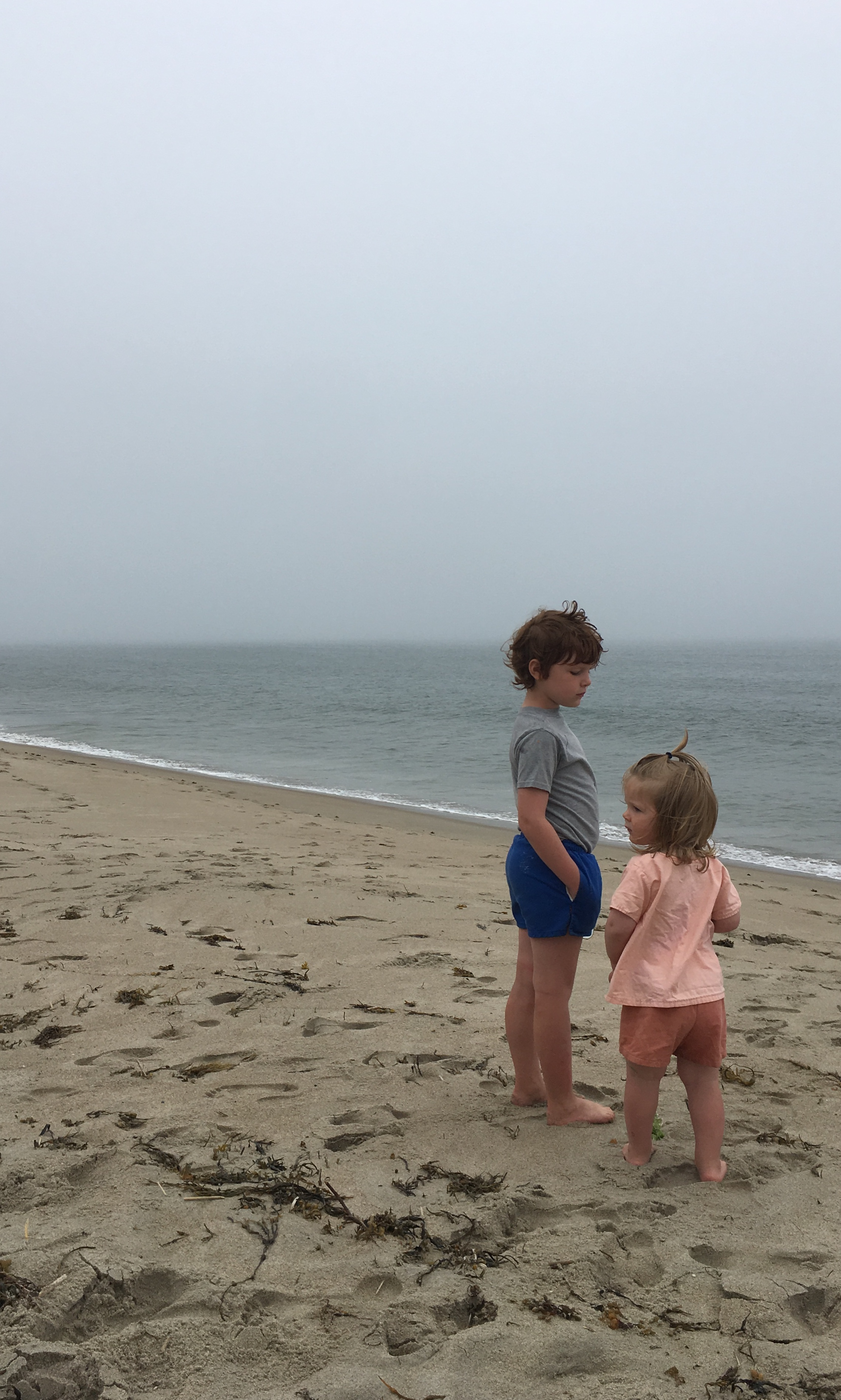 My boys, who soaked up the sand and the waves and had an ice cream cone every single day, just like they'd hoped to.