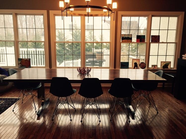 """Walnut Slab Dining Table 108"""" x 42"""" (2014)"""