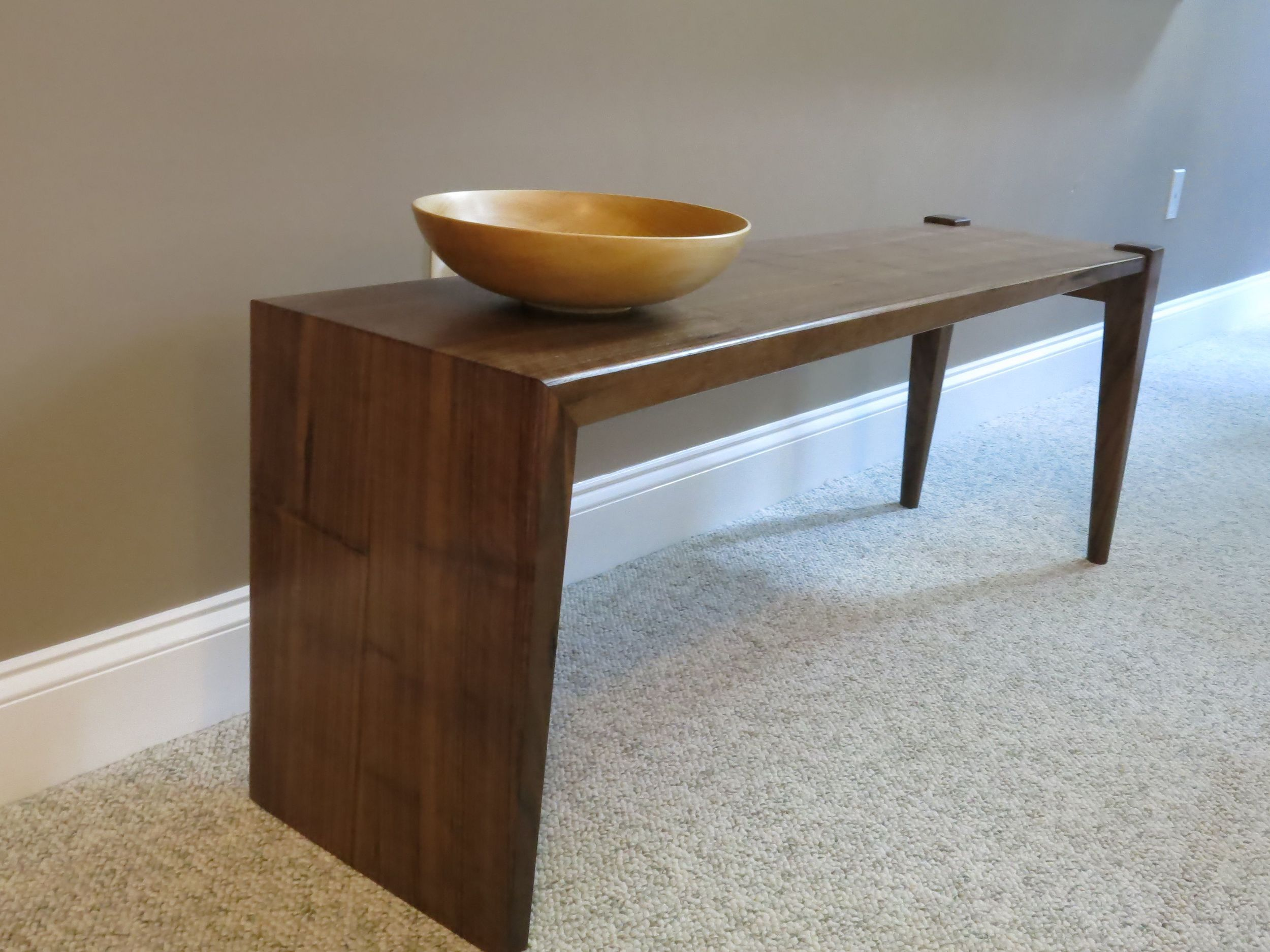 Quartersawn Walnut bench (2015)