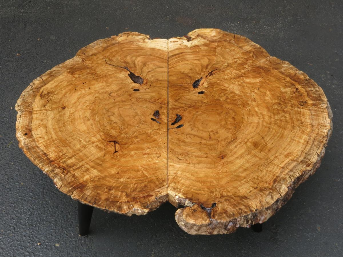 2017 Oak Burl Table.  The legs are from a fallen white oak.