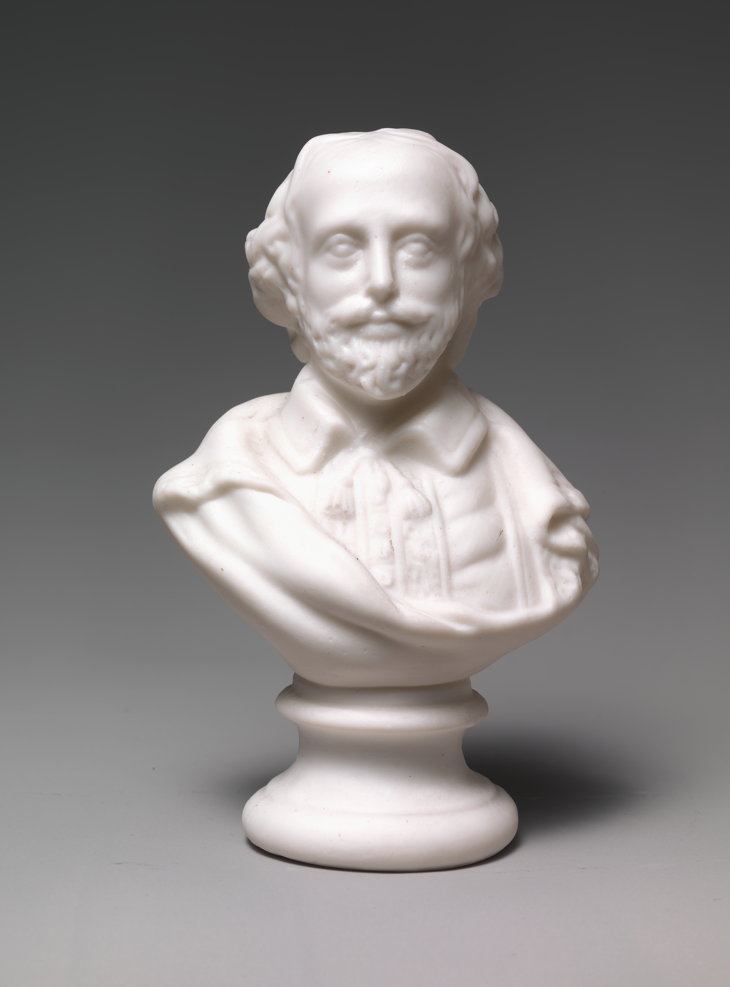 Bust of William Shakespeare (Parian porcelain, 1830–70).  The Metropolitan Museum of Art , accession number 47.90.154. License: CC0 1.0.