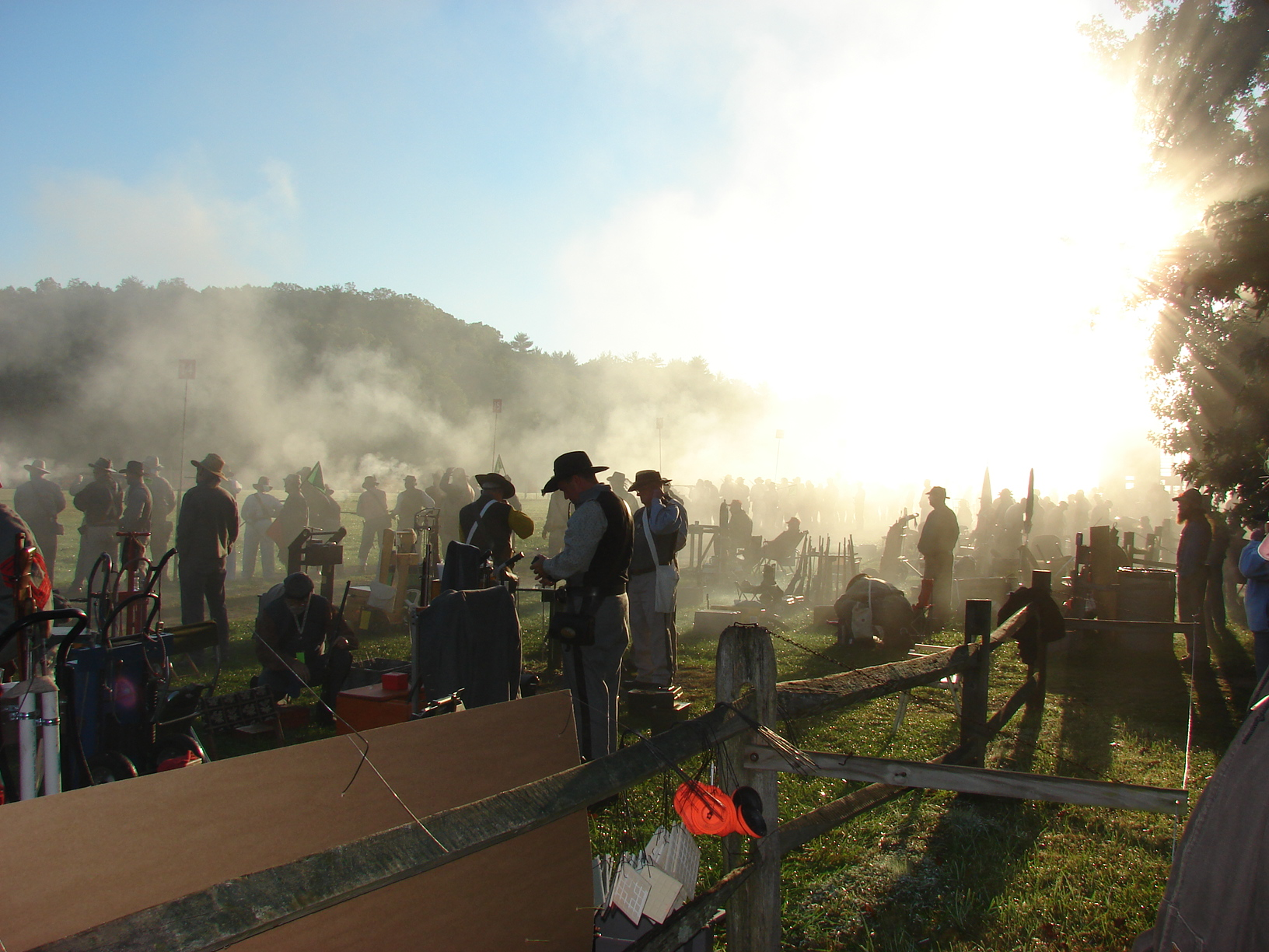 The sight of an early morning skirmish at Fort Shenandoah