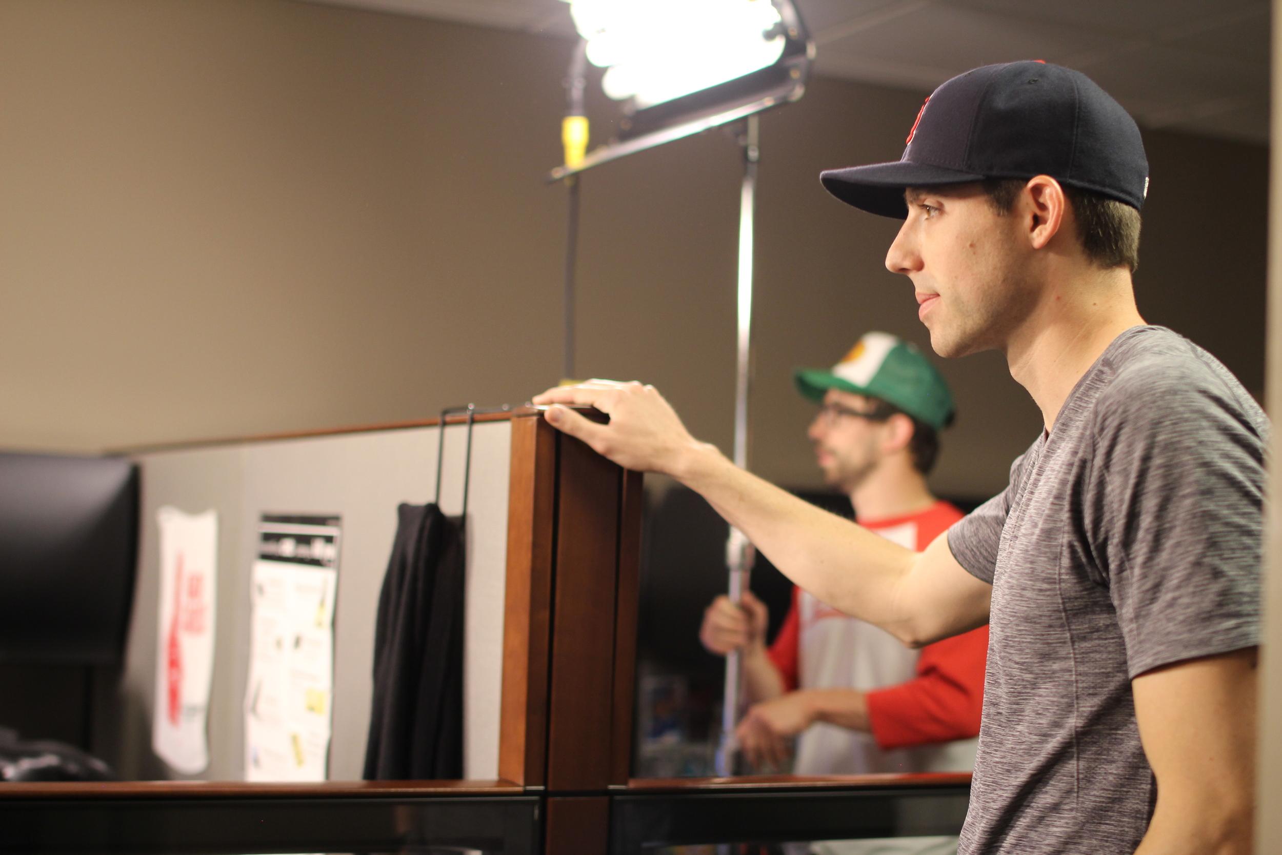 Adam Huber (Gaffer/Camera) & Mike Rohlfing (DP)