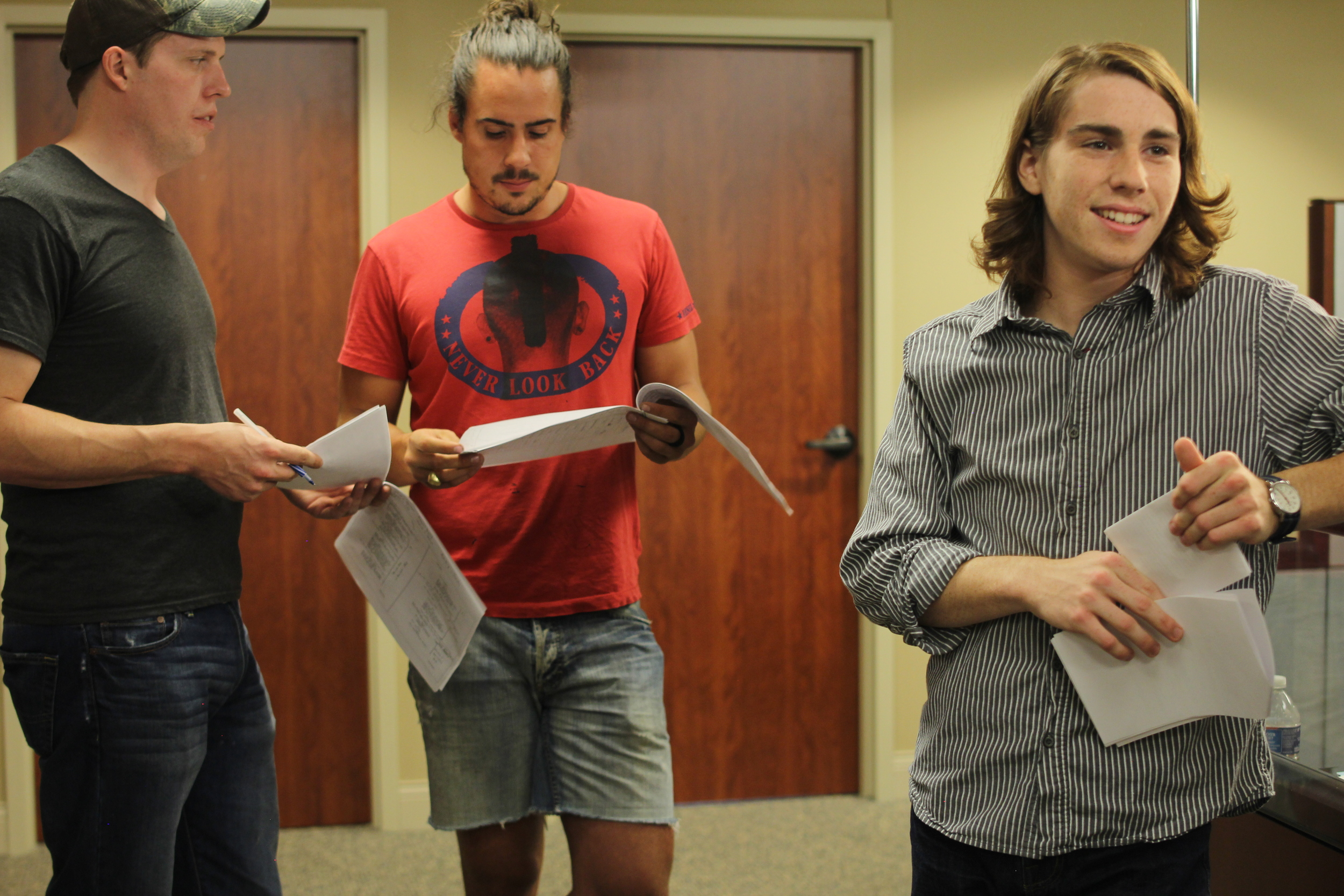 Luke McGowan (AD), Carroll Keane (Director), & Harrison Farmer (Actor)
