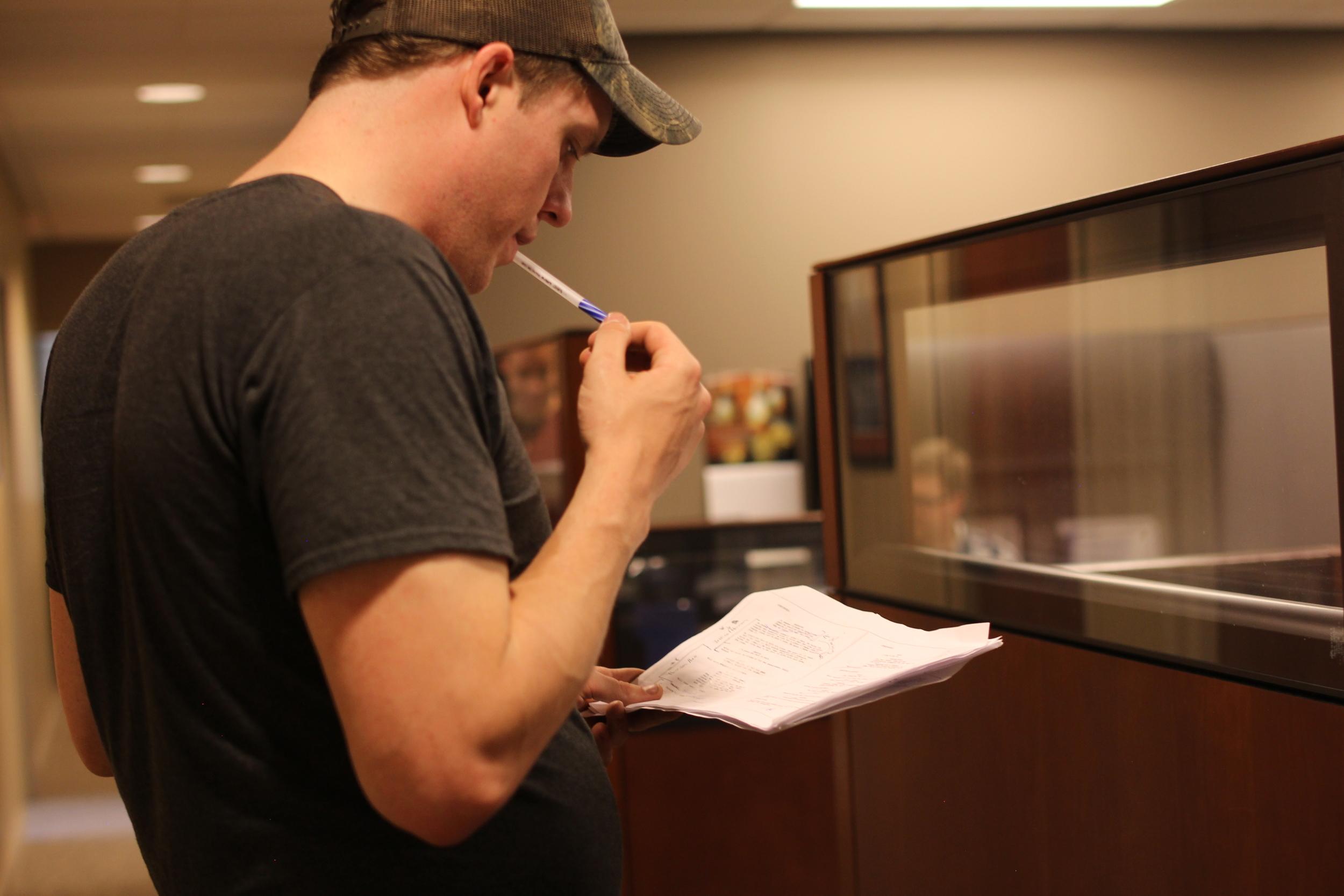 Luke McGowan (AD) fixing the schedule
