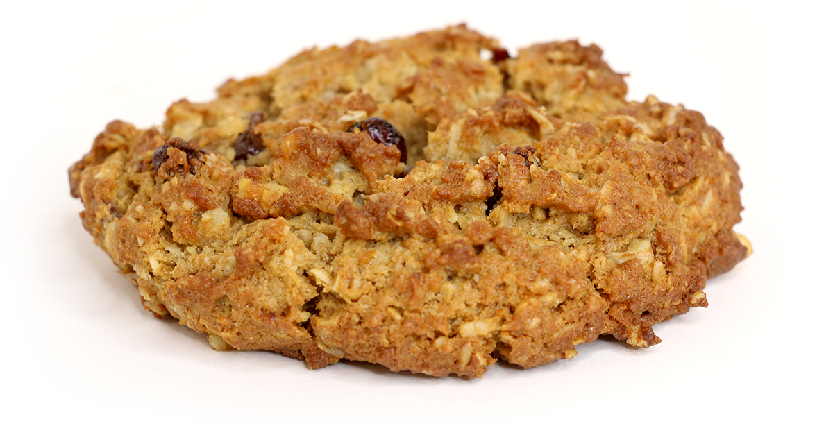 …Ready, Set? - The Breakfast Cookie: whole wheat, oatmeal, craisins , walnuts, coconut & honey!