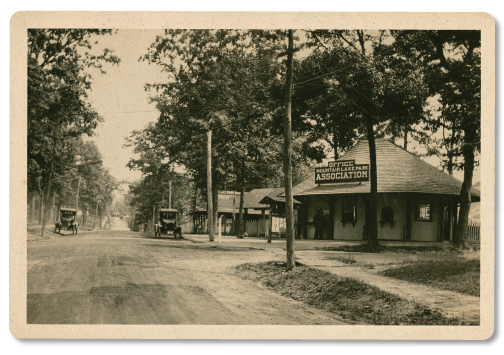 The Trader's Tent will be on G Street, across from the original, Ticket Booth (circa 1900)