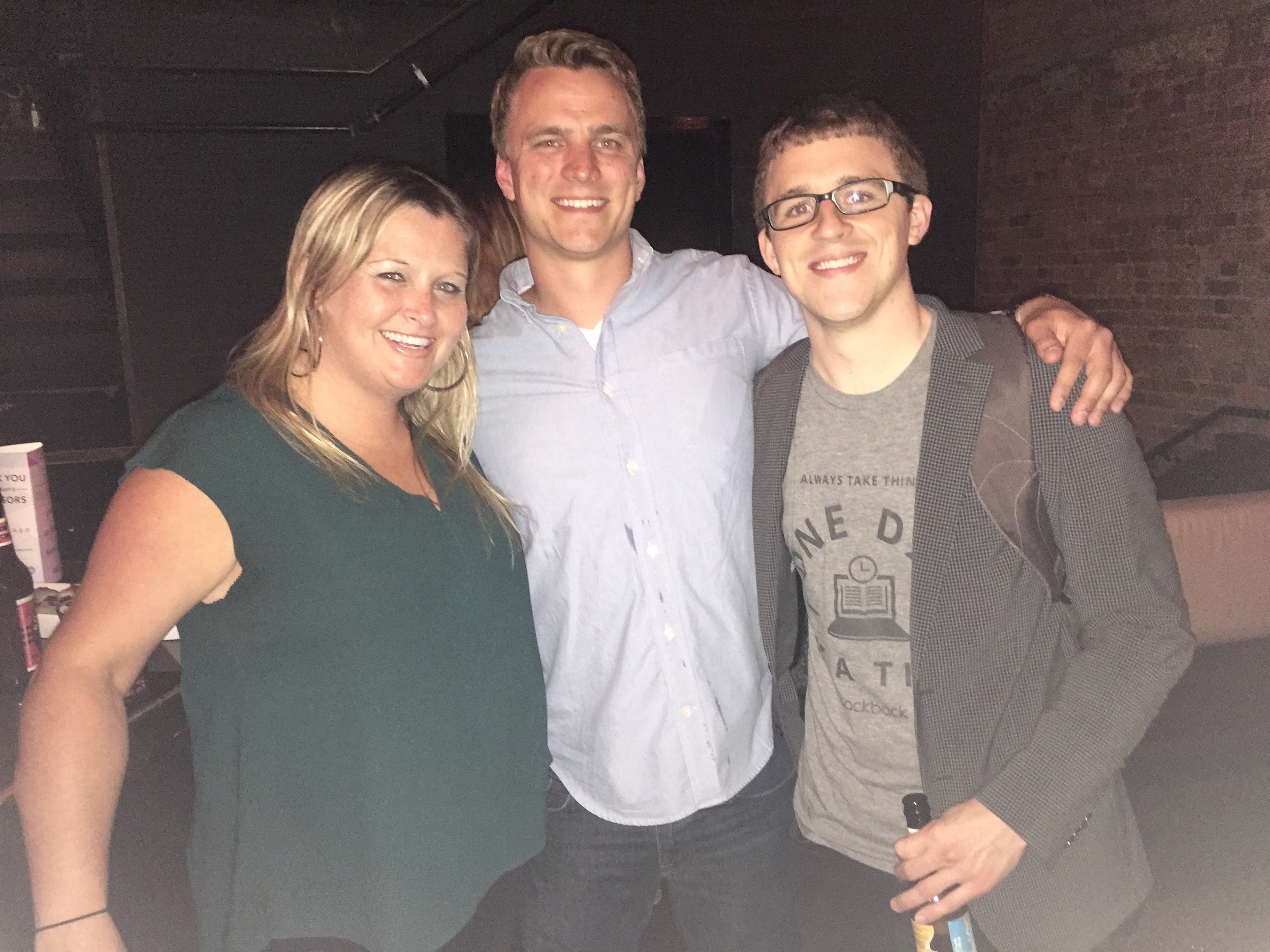 Amanda with Adam Tilton of Rithmio and Mike Shannon of Packback at Catapult's Celebration in June.