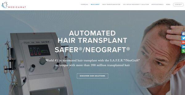Refonte site Web Medicamat leader mondial implant automatisé