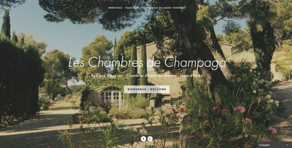 Site Web des chambres d'hôtes les Chambres de Champaga