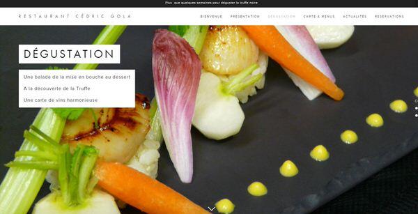 Site Web du restaurant gastronomique Cédric Gola & webmarketing