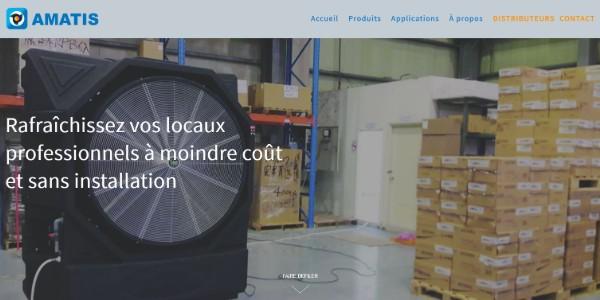 Refonte du site Web de l'entreprise  AMATIS