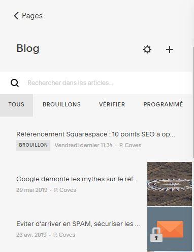 Optimisez le référencement avec une page blog dans Squarespace