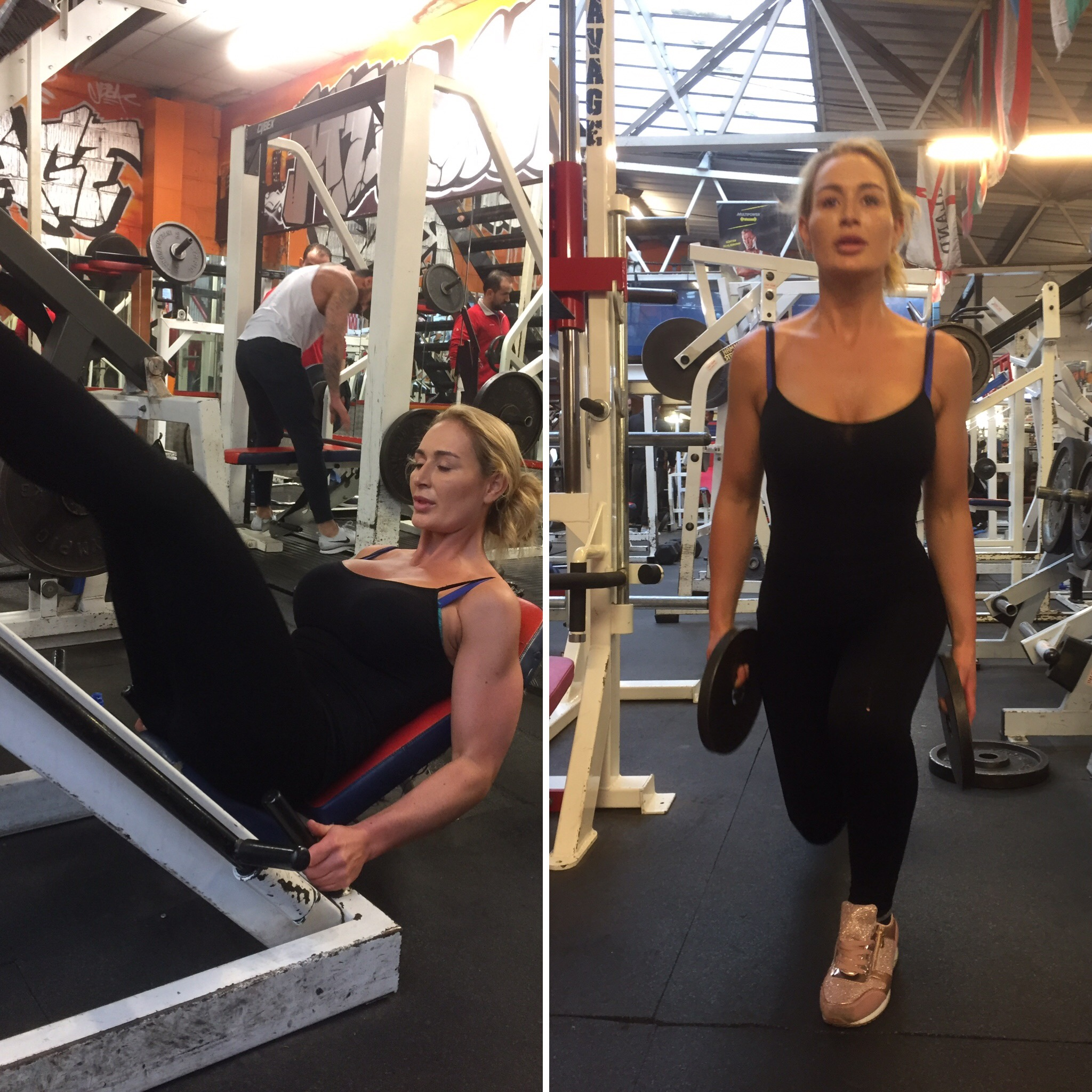 Sofie Training Hard at Muscle Limit Gym.