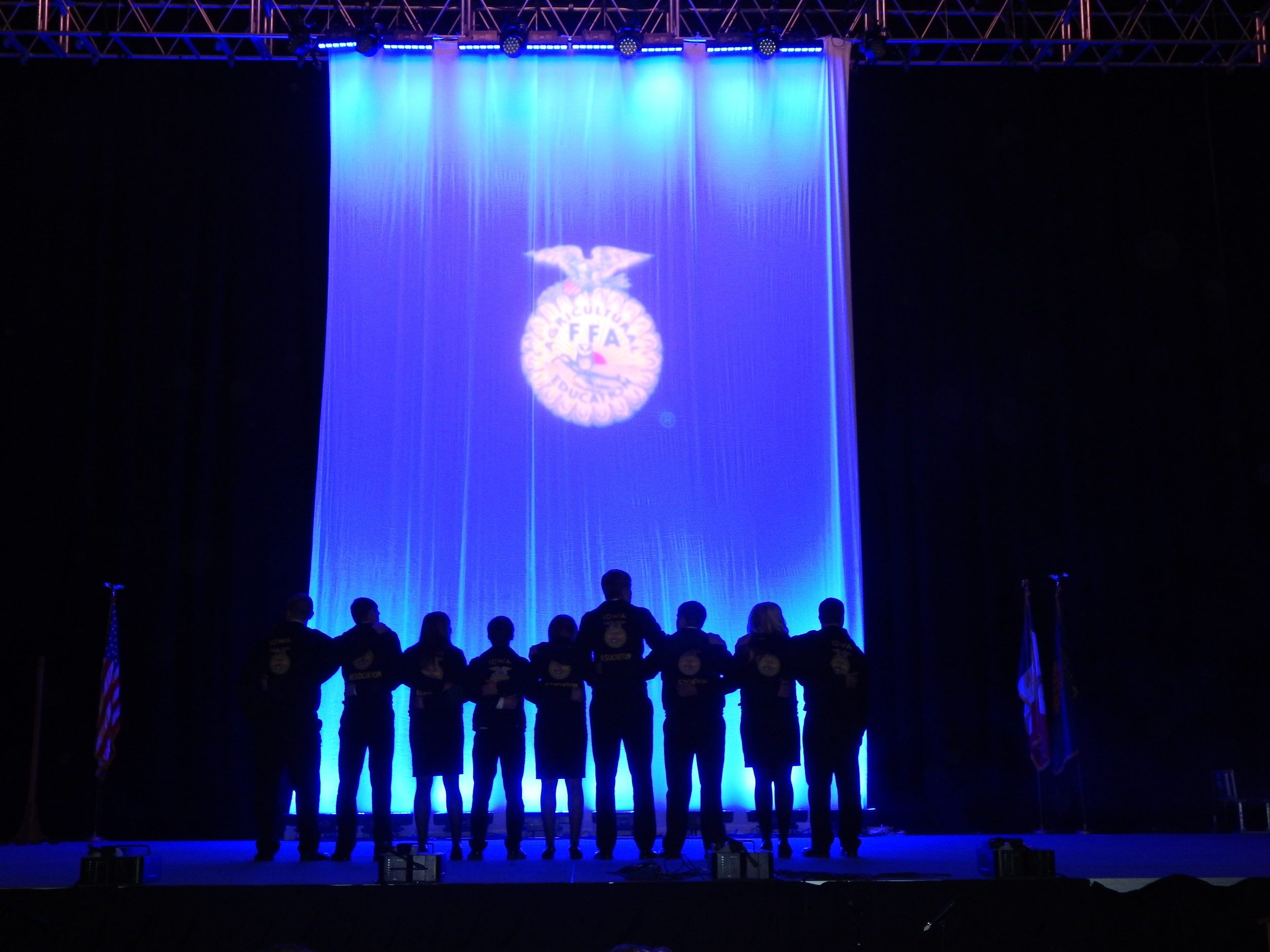 Iowa FFA Officers at the 2015 State Convention.