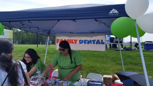 Family Dental of Richmond staff at the Copa Telemundo Soccer Tournament