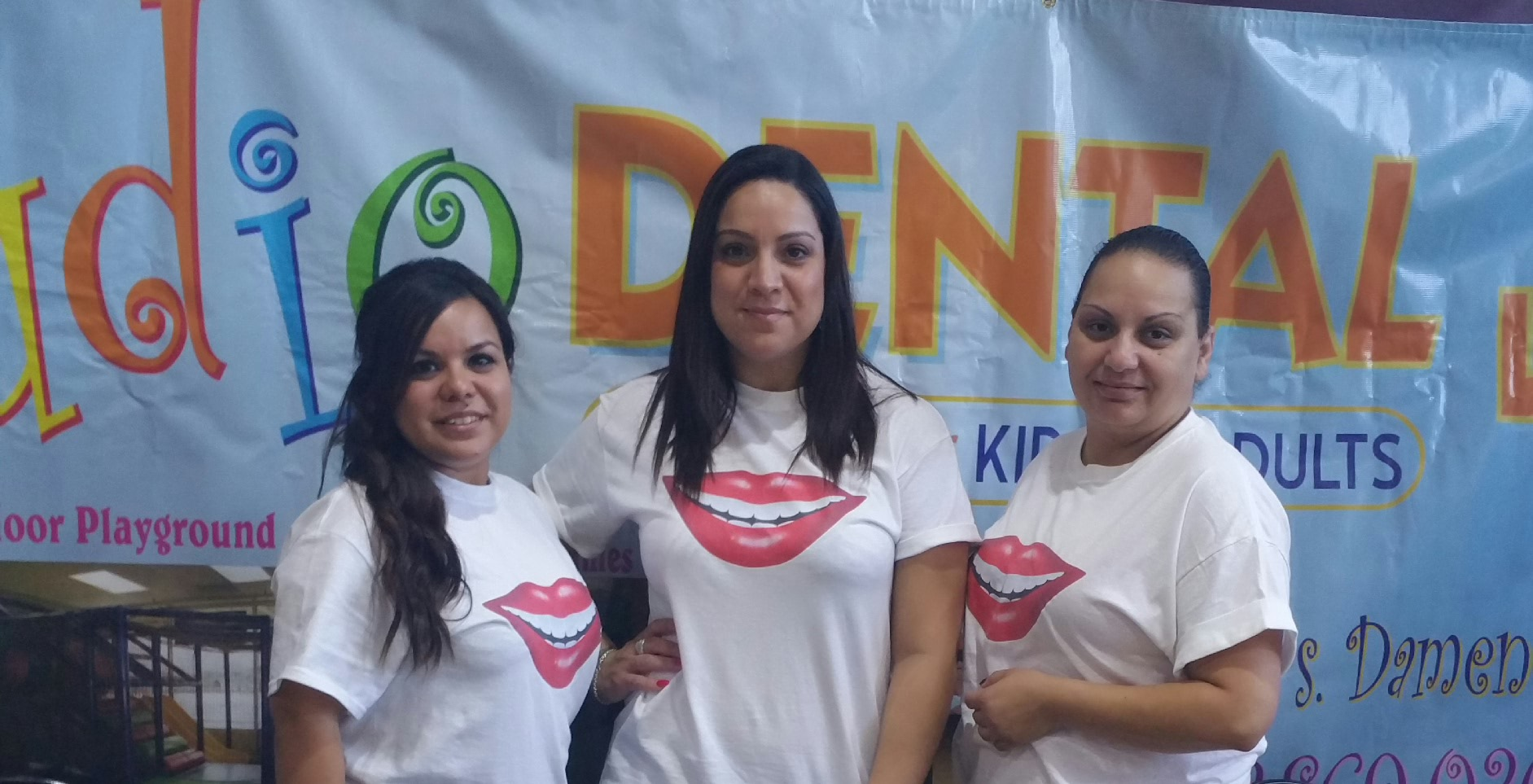 Studio Dental staff at the Back to School Health and Fun Fair at Davis Square Park