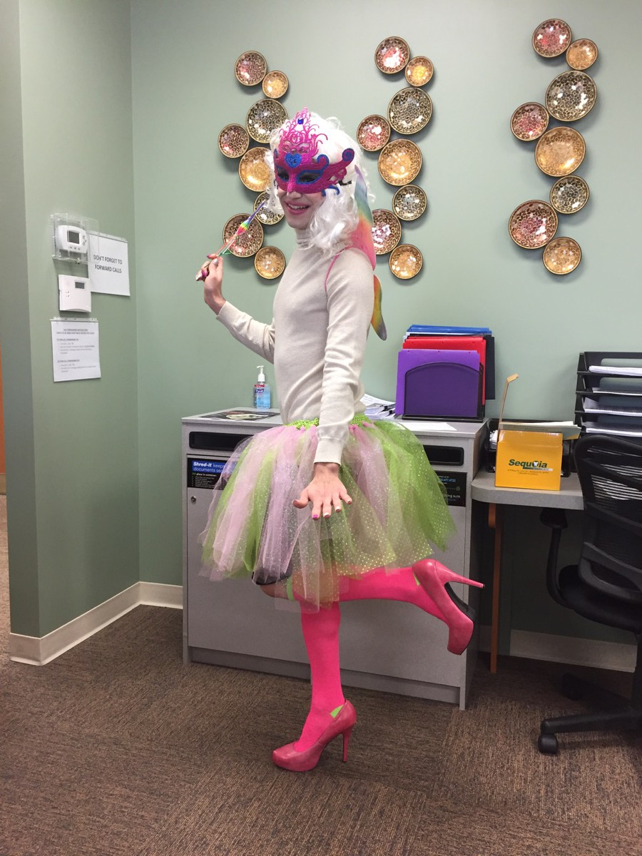 Kalamazo Dental Dreams office getting in costume for Trunk or Treat