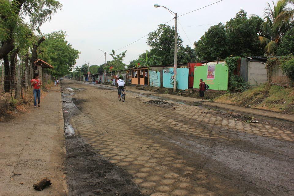 Local Community street in Nicaragua