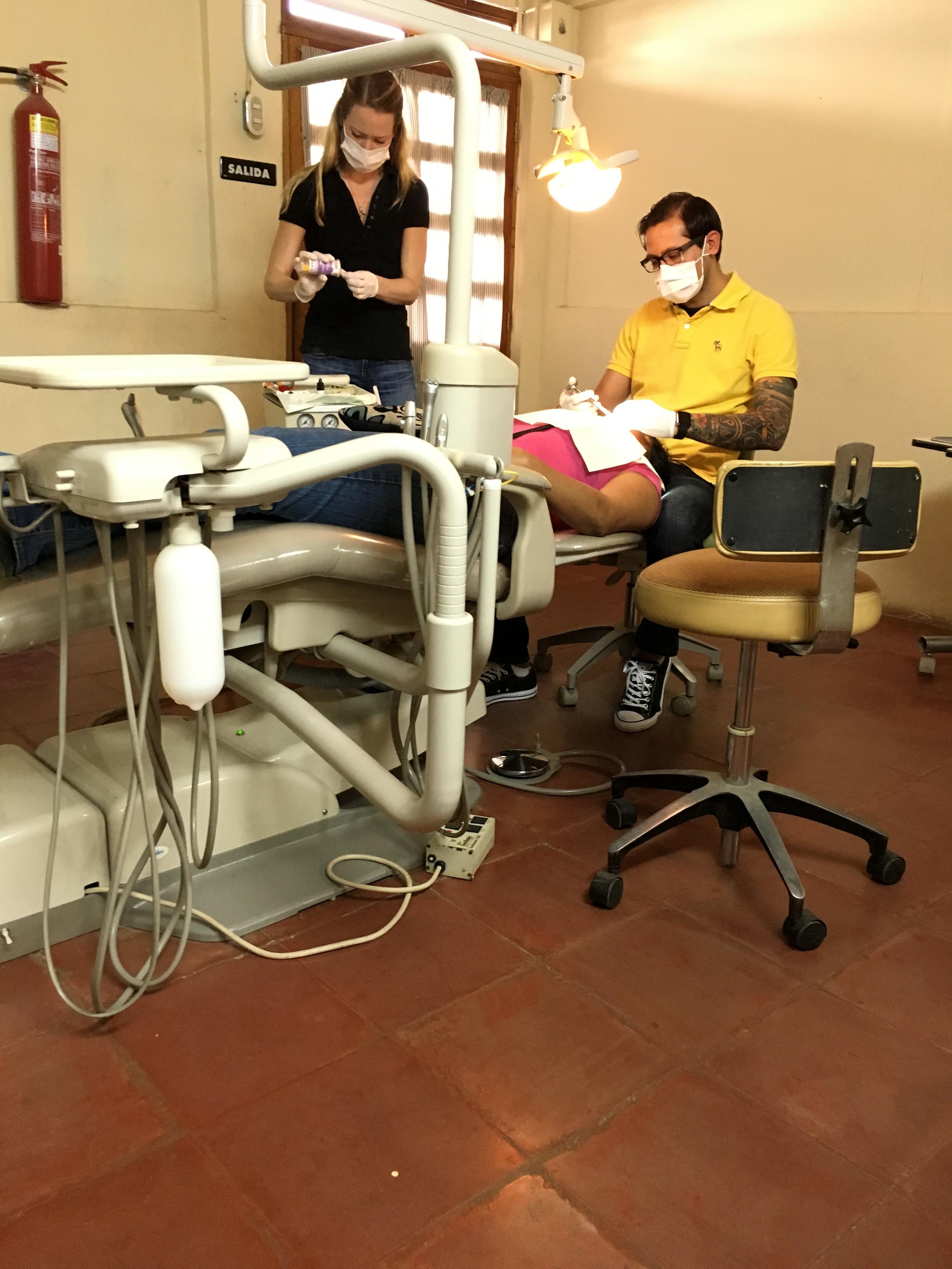 Oscar and Rebekah Gonzalez providing dental care in Nicaragua