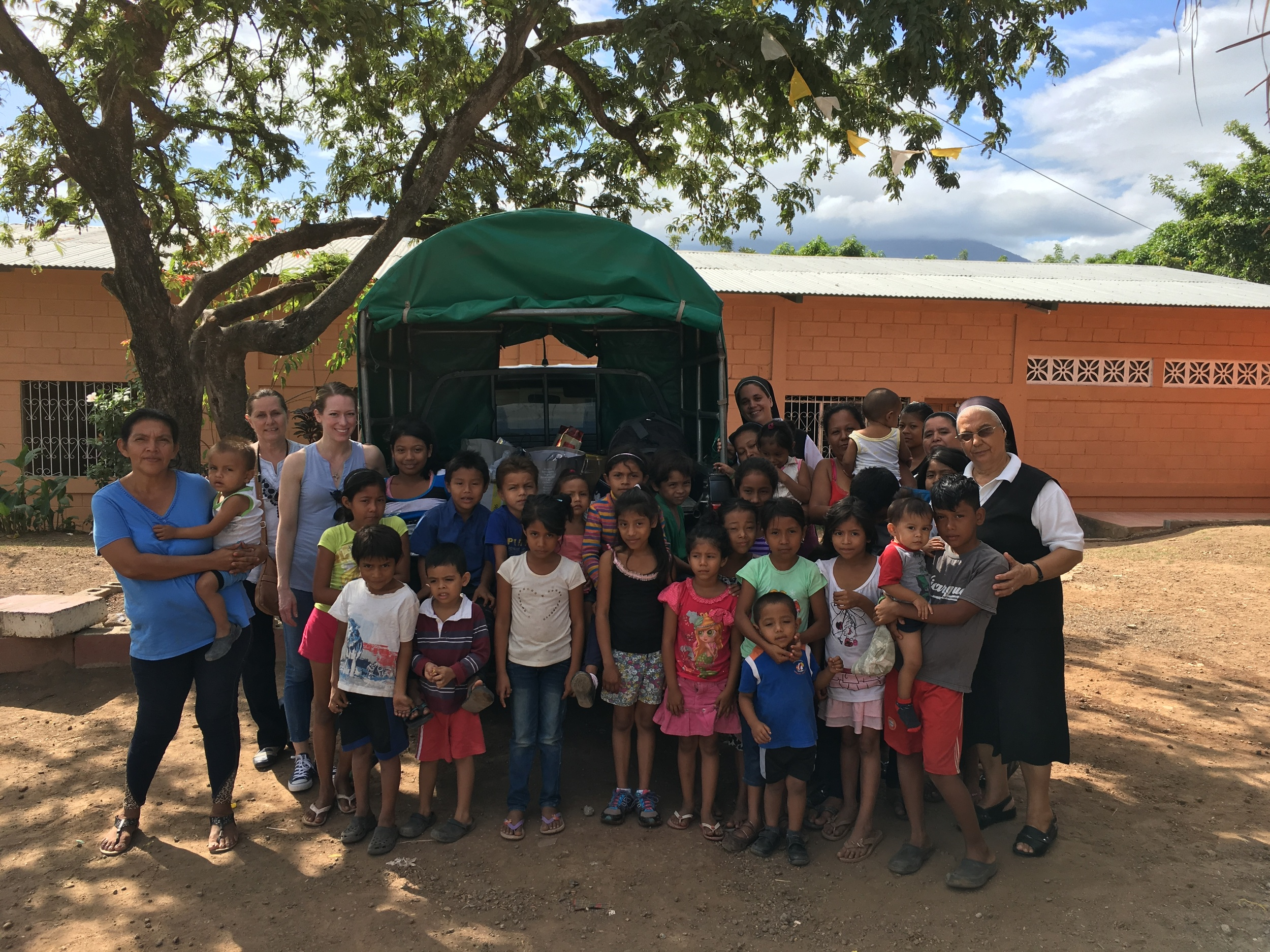 The Gonzalezs with some of their patients and staff providing dental care in Nicaragua