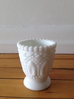 3' Milk Glass Vase