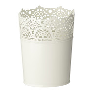 6 ' White Metal Buckets