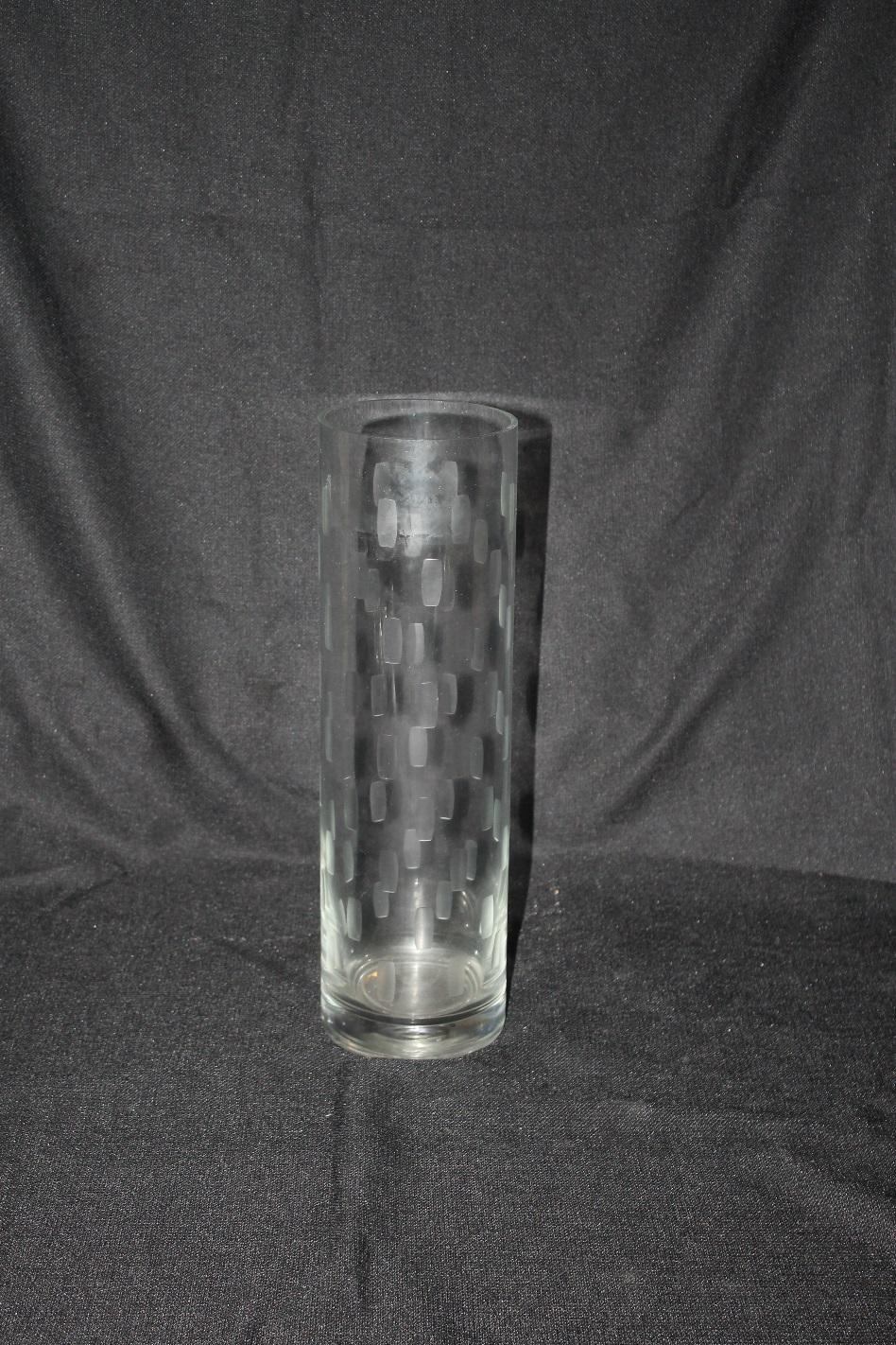 16' Etched Cylinder Vases