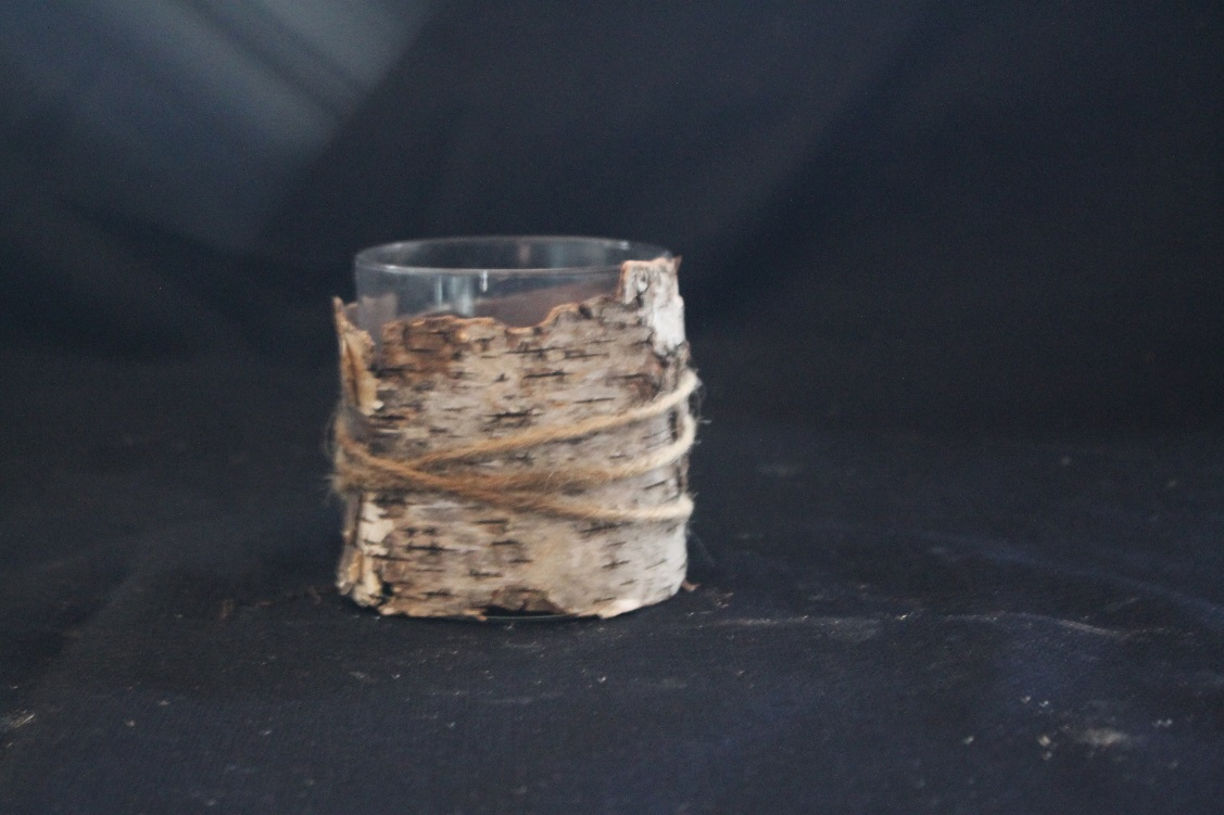 Birch Wrapped Candle Holders