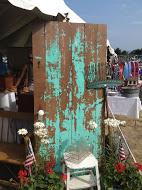 Turquoise Antique Door
