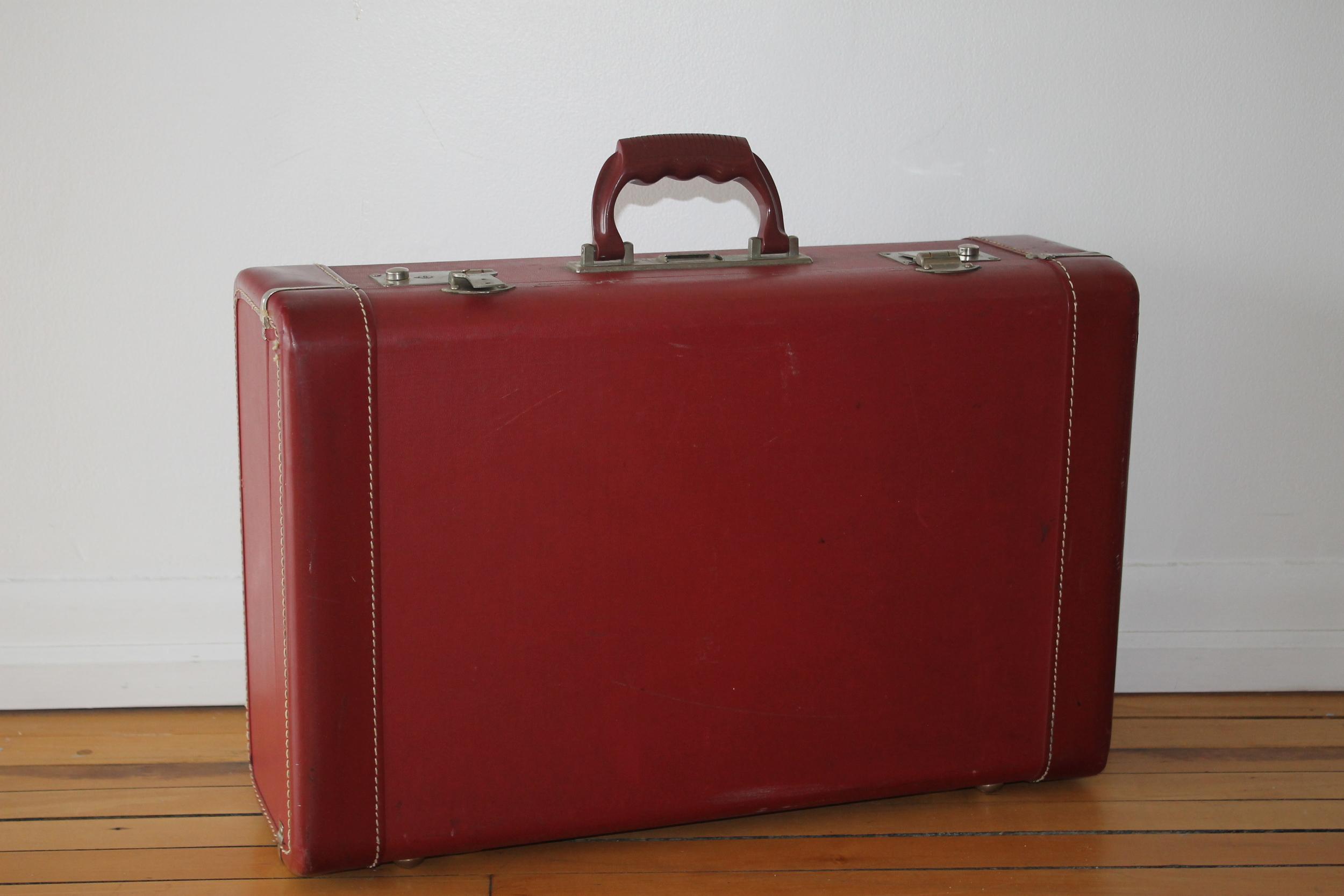 Red Vintage Suitcase