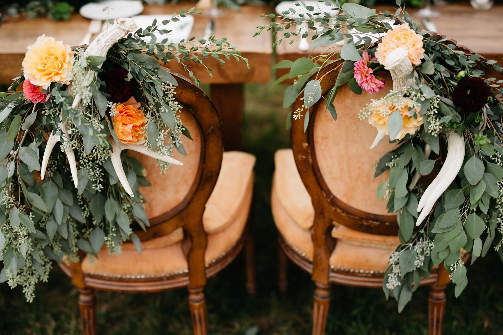 Bride & Groom Chairs Antlers