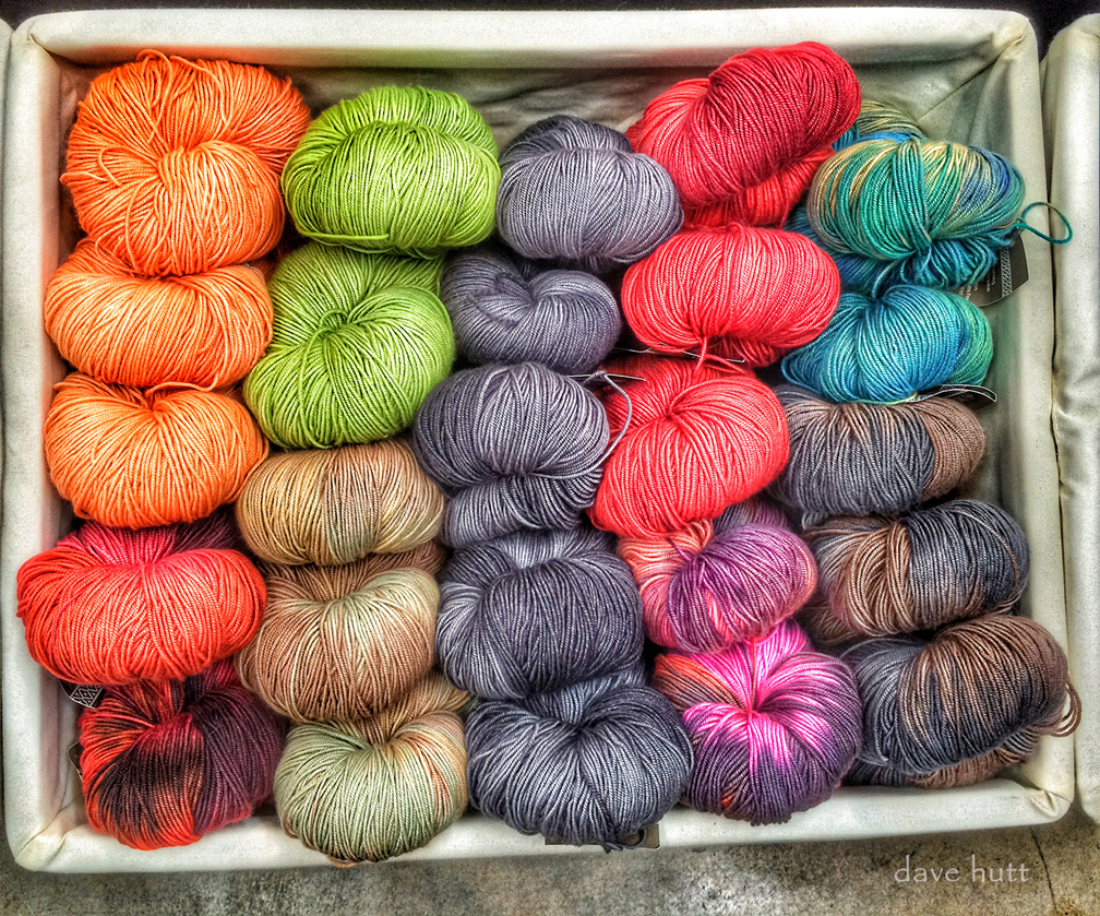 Basket of Yarn   iPhone photo,  2015