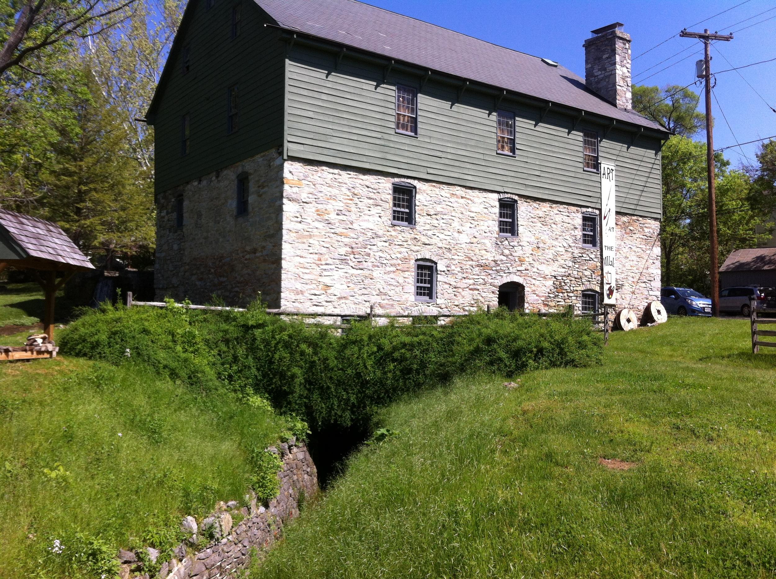 The historic Burwell-Morgan mill in Millwood, VA