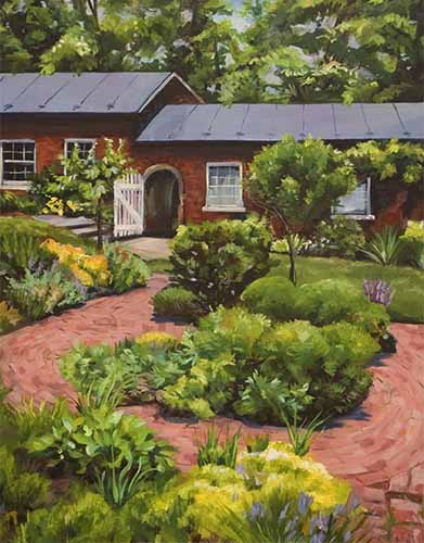Garden Path Acrylic on canvas 22x28. Copyright 2015 Kim T. Richards All rights reserved