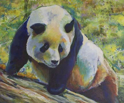 Tian Tian 20x24 Acrylic on Canvas. Copyright 2015 Kim T. Richards. All rights reserved.
