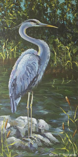 "Standing Silent Acrylic on Canvas 18 x 36"" © Kim T. Richards"