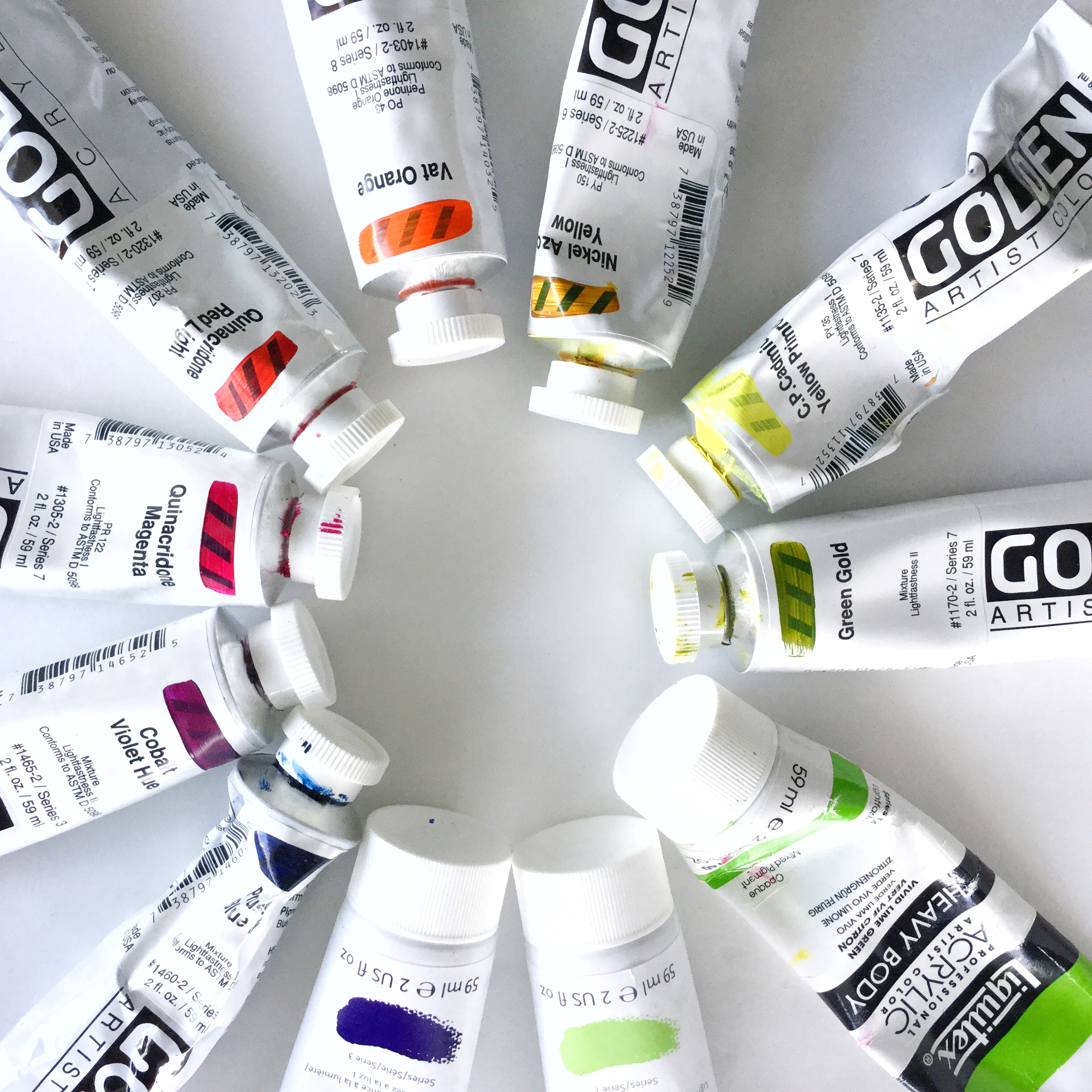 Some of my favorite tubes of paint