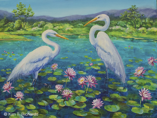 """Peaceable Summer © Kim T. Richards 40x30"""" Available $1100 + shipping"""